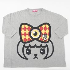 Mameshi-Pamyu-Pamyu British Argyle Mega-Loose T-Shirt (Gray)