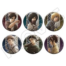 Attack on Titan Season 3 Character Pin Badge Collection Box Set