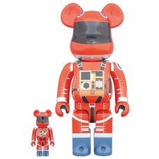 BE@RBRICK 100% & 400% Space Suit Orange Ver.
