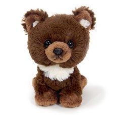 Fluffies Small Brown Bear Plush
