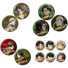 Attack on Titan Pin Badge Set