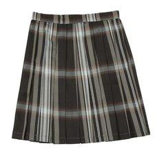 Teens Ever Black x White High School Uniform Skirt