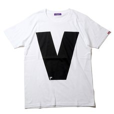 RADIO EVA 410 NERV Letter V White T-Shirt