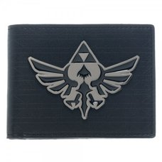 Nintendo Zelda Black Metal Badge Bi-Fold Wallet