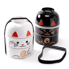 Kokeshi Maneki-Neko Big Bento Boxes