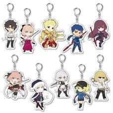 Pikuriru! Fate/Grand Order Trading Acrylic Keychain Charms Vol. 2 Box Set (Re-run)