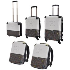 Tetris Art Suitcase & Rucksack Collection: Two-tone (White)