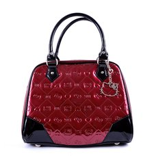 Hello Kitty Berry Embossed Pattern Handbag