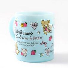 Rilakkuma La Fraise a Paris Plastic Mug Cup