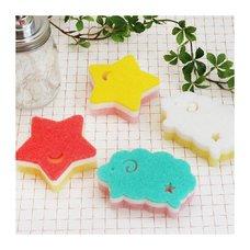 Cou Cou Kitchen Sponge Sheep & Star 4-Piece Set