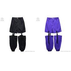 LISTEN FLAVOR Plastic Buckle Hollowed Out Detachable Pants