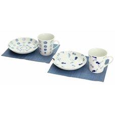 Mino Ware Indigo Fine Pattern Breakfast Set