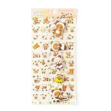 Rilakkuma Panda de Goron Funi Plus Stickers