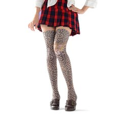 Zettairyoiki Leopard Thigh-High Tights