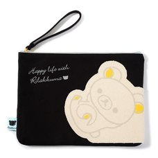 Rilakkuma Die-Cut Pocket Canvas Flat Pouch