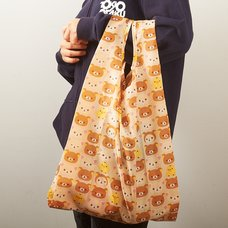Rilakkuma Fold-up Shopping Bag (Tiled Design)
