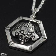 Eva × Hanakarakusa Collaborative Unit-01 Silver Hexagon Pendant
