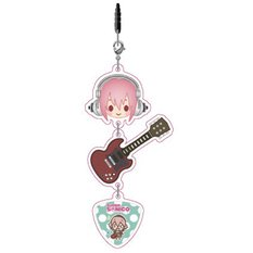 Super Sonico Acryl Strap with Earphone Jack [Pre-order]