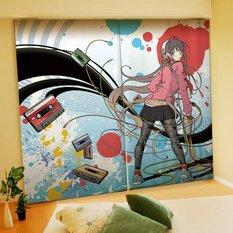 Aka Ringo Illustrated Curtains
