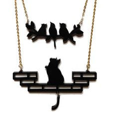 Hungry Kitten Necklace
