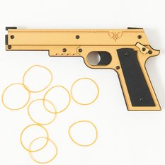 Blowback-Style Rubber Band Gun (R-2)