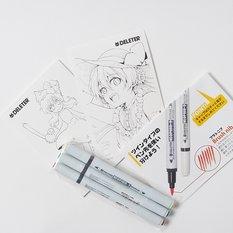 Deleter Manga Set Color Illust Mini