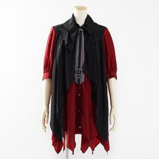 ALGONQUINS Layered Dress w/ Necktie