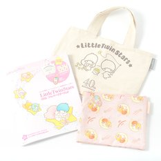 Little Twin Stars 40th Anniversary Book w/ Bonus Pouch, Basket Tote & Charm