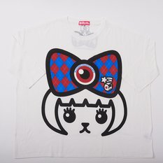 Mameshi-Pamyu-Pamyu British Argyle Mega-Loose T-Shirt (White)