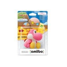 Pink Yarn Yoshi amiibo | Yoshi's Woolly World