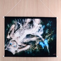 "Tapestry: KEI's ""White Cat & Butterfly"""