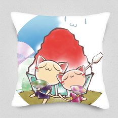 Folding Fan Festival Cushion Cover
