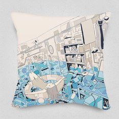 The Strength of Coexisting with Trying Waters Cushion Cover