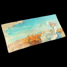 "Illustrated Microfiber Towel: Tori's ""Far Away, Long Ago"""