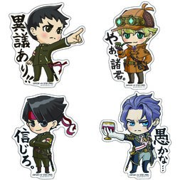 Capcom x B-Side Label Dai Gyakuten Saiban Stickers
