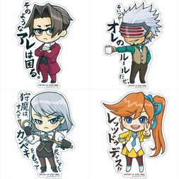 Capcom x B-Side Label Ace Attorney Stickers