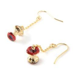 Lilou Apple Core 3D Chain Earrings