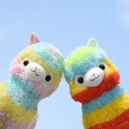 [TOM Exclusive] Double Rainbow Alpacasso Alpaca Plush Pair (Big)