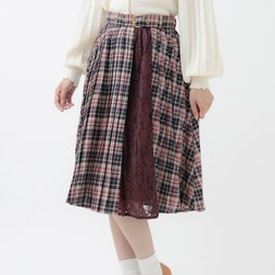 LIZ LISA Checkered Pleated Skirt
