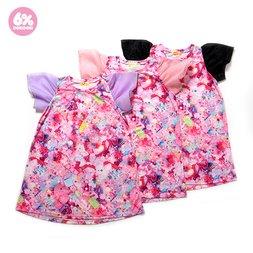6%DOKIDOKI Girls Daydream See-Through Sleeved Dress