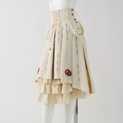 Ozz Oneste Camellia Embroidered Hakama-Style Skirt