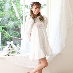 LIZ LISA Love Letter Fleece-Lined Hoodie Dress