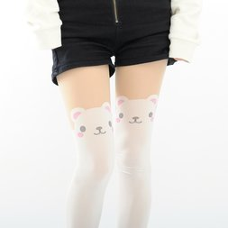 NEW Animal Fake Thigh-High Tights