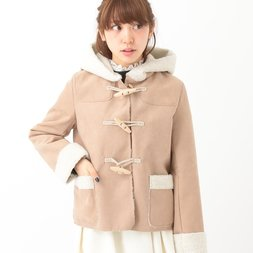 earth music&ecology Imitation Mouton Duffle Coat