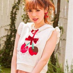 LIZ LISA Chocolate-Dipped Cherries Pullover