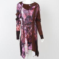 Ozz Conte Grunge Print Dress