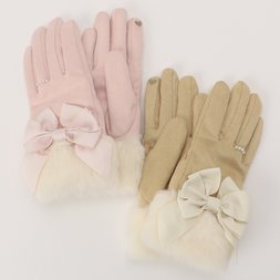 LIZ LISA Suede Ribbon Gloves