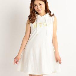 LIZ LISA NJOY Embroidered A-Line Hooded Dress