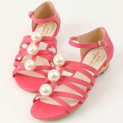 Honey Salon Big Pearl Sandals (Fuchsia Pink)