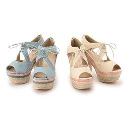 LIZ LISA Colorful Jute Sandals
